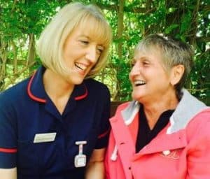 Matron with patient